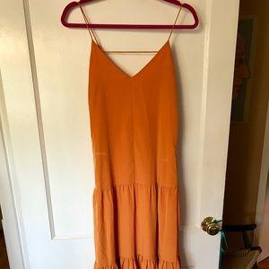 1. State yellow/gold maxi dress. Size XS worn once